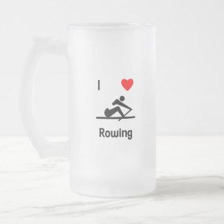 I Love Rowing 2 Mugs