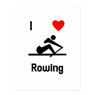 I Love Rowing (2) Post Cards