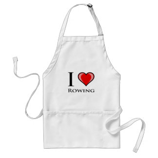 I Love Rowing Adult Apron