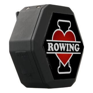 I Love Rowing Black Bluetooth Speaker