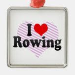 I love Rowing Christmas Tree Ornaments