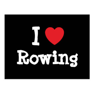 I love Rowing heart custom personalized Postcard