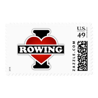 I Love Rowing Postage