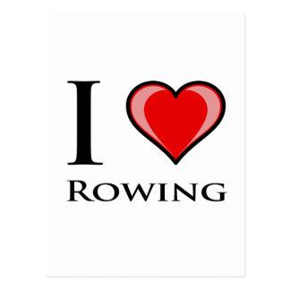 I Love Rowing Postcard