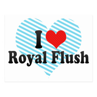 I Love Royal Flush Postcard