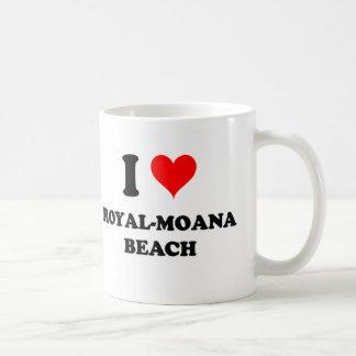 I Love Royal-Moana Beach Hawaii Mugs