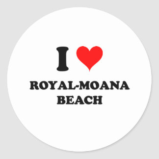 I Love Royal-Moana Beach Hawaii Sticker