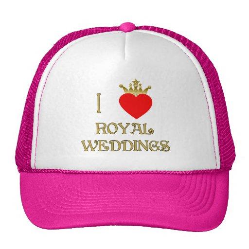 I Love Royal Weddings Cap Trucker Hat