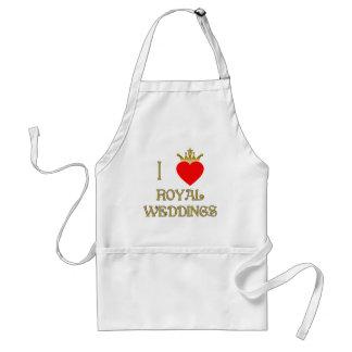 I Love Royal Weddings T-shirts, Mugs, Gifts Adult Apron
