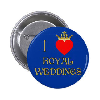 I Love Royal Weddings T-shirts, Mugs, Gifts 2 Inch Round Button