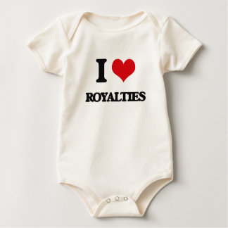 I Love Royalties Baby Bodysuits