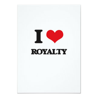 I Love Royalty 5x7 Paper Invitation Card