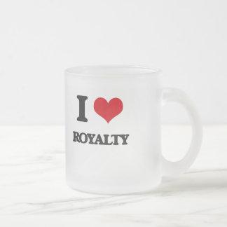 I Love Royalty 10 Oz Frosted Glass Coffee Mug