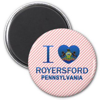 I Love Royersford, PA 2 Inch Round Magnet