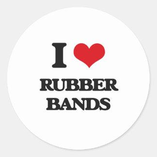 I Love Rubber Bands Classic Round Sticker