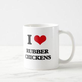 I Love Rubber Chickens Coffee Mug