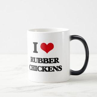 I Love Rubber Chickens Magic Mug