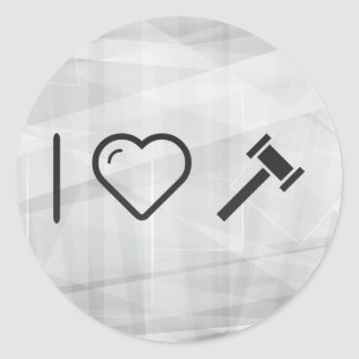 I Love Rubber Hammers Classic Round Sticker