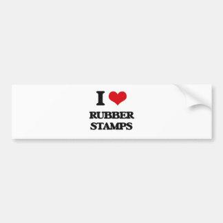 I Love Rubber Stamps Car Bumper Sticker