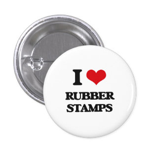 I Love Rubber Stamps 1 Inch Round Button