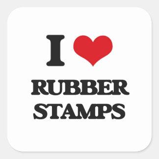 I Love Rubber Stamps Square Sticker