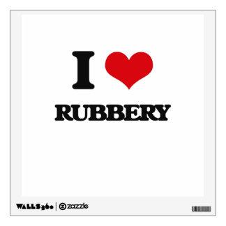 I Love Rubbery Wall Skin