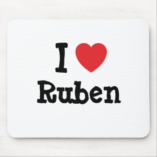 I love Ruben heart custom personalized Mouse Pad