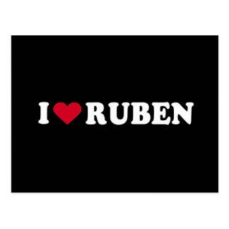 I LOVE RUBEN POSTCARD