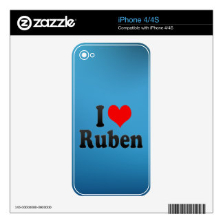 I love Ruben Decal For The iPhone 4