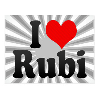 I love Rubi Post Cards