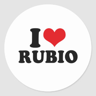 I LOVE RUBIO CLASSIC ROUND STICKER