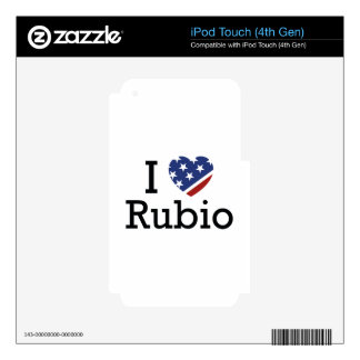 I Love Rubio Decals For iPod Touch 4G