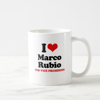 I LOVE RUBIO FOR VICE PRESIDENT RED.png Classic White Coffee Mug
