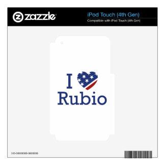 I Love Rubio iPod Touch 4G Skin