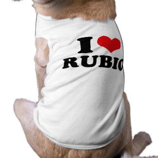 I LOVE RUBIO.png Doggie T-shirt