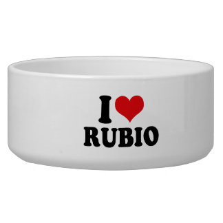 I LOVE RUBIO.png Dog Food Bowls
