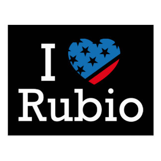I Love Rubio Postcard