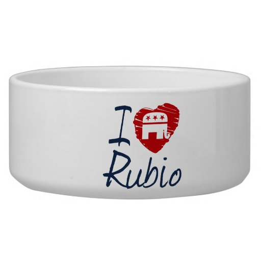 I LOVE RUBIO SKETCH -.png Dog Water Bowls