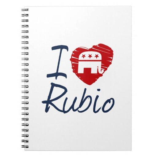 I LOVE RUBIO SKETCH -.png Spiral Note Books