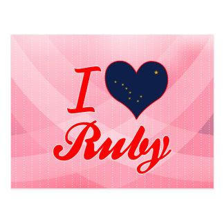 I Love Ruby, Alaska Post Card