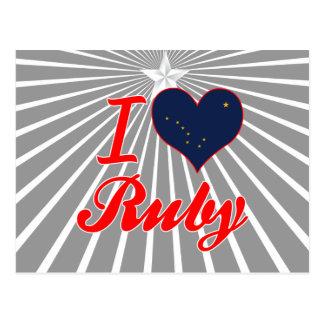 I Love Ruby, Alaska Post Cards