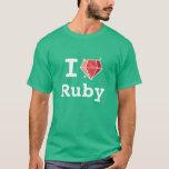 I Love Ruby Happy Coder Shirt