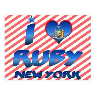 I love Ruby, New York Postcards