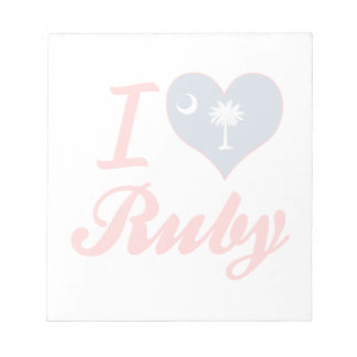 I Love Ruby, South Carolina Memo Note Pad