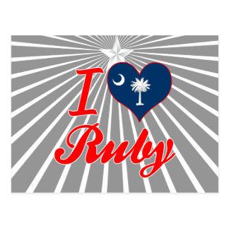 I Love Ruby, South Carolina Post Card