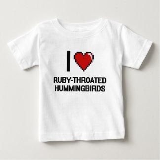 I love Ruby-Throated Hummingbirds Digital Design Tshirt