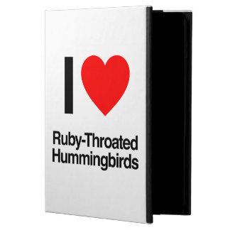 i love ruby-throated hummingbirds iPad air cases