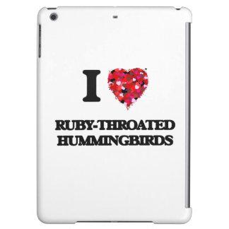 I love Ruby-Throated Hummingbirds iPad Air Covers
