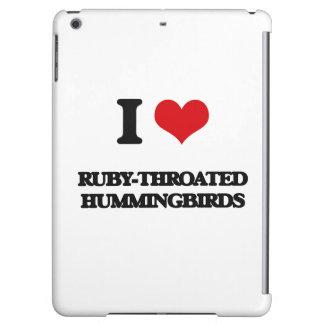 I love Ruby-Throated Hummingbirds Case For iPad Air