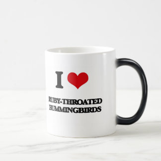 I love Ruby-Throated Hummingbirds 11 Oz Magic Heat Color-Changing Coffee Mug